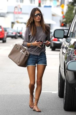 Alessandra Ambrosio leaving the Ivy with her fiance to go shopping on Melrose Avenue Los Angeles, California - 07.04.11 Mandatory Credit: Beiny/Fu/WENN.com